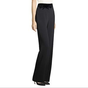 Escada High Wasited Black Lace Detail trousers 8